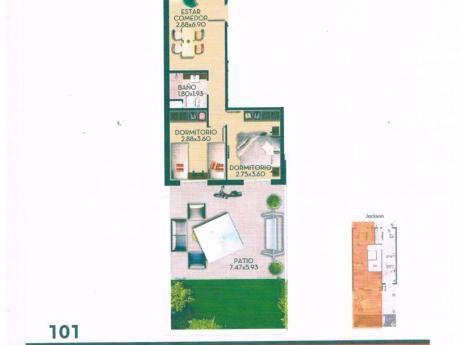 A Estrenar Apartamento 2 Dormitorios Cordon Sur