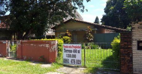 Vendo Terreno 480 M2 Sobre Tte Vera, Con Casa  A Derumbar.