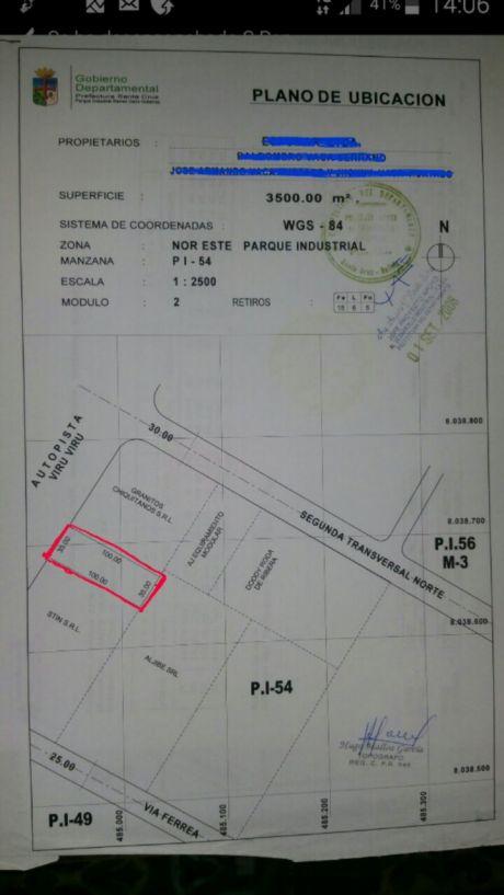Vendo Terreno Av. Mutualista 6to Y 7mo Anillo Al Frente Del  Cambodromo.