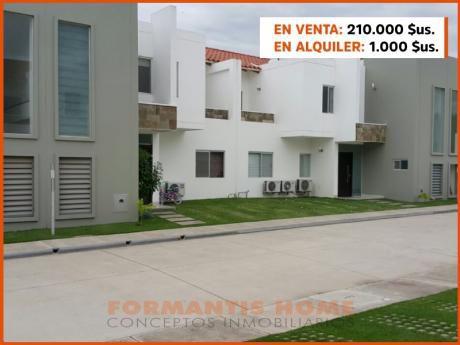 Casa En Venta De Dos Plantas En Condominino Zona Oeste Entre 4to Y 5to Anillo.