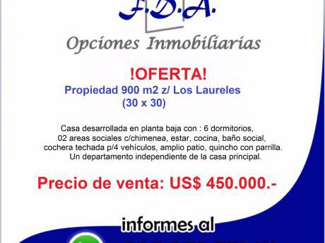 Oferta  Vendo 900 M2 Los Laureles