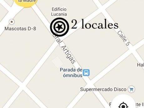 2 Locales Comerciales En Atlántida Sobre Calle Artigas -inmobiliaria Calipso