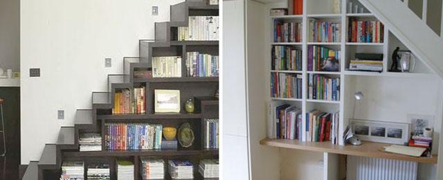 Ideas creativas para aprovechar el espacio debajo de las escaleras