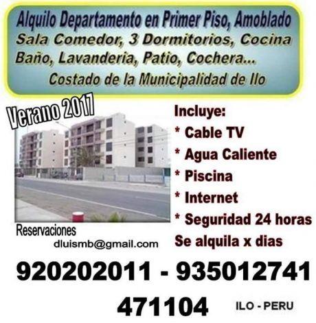 Se Alquila Dpto Amoblado Ilo - Peru