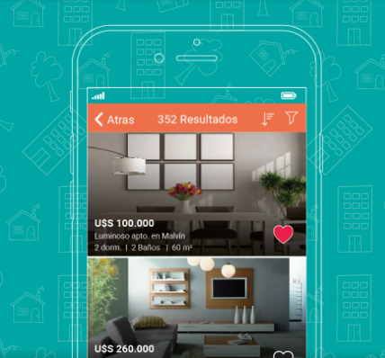 Diseño mobile para inmobiliarias