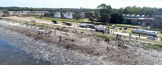 Cientos de voluntarios limpiaron la Playa Capurro