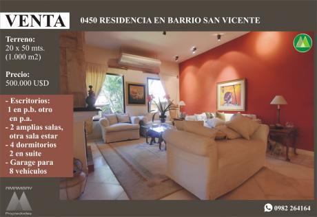 0450 Residencia En Barrio San Vicente