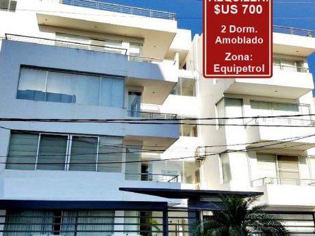 Alquiler: $us. 700 - Zona: Equipetrol - 2 Dormitorios Amoblado