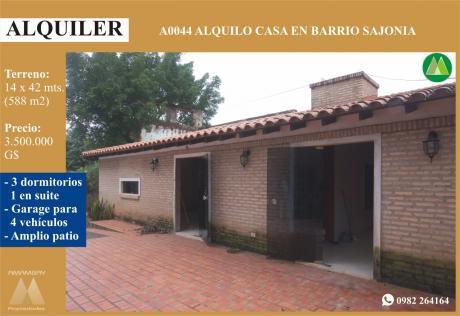 A0044 Alquilo Casa En AsunciÓn, Barrio Sajonia