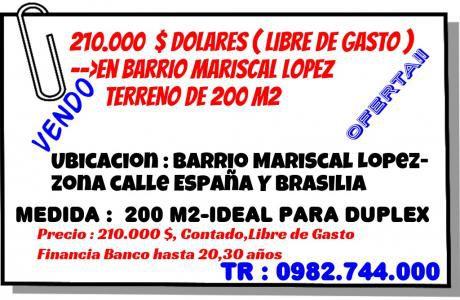 Excelente Ubicacion-barrio Ycalle Re Residencial--oferta Terreno De 200 M2