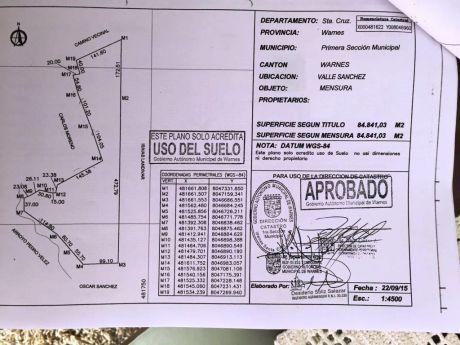 Terreno De 84.841,03 M2 En Valle Sanchez