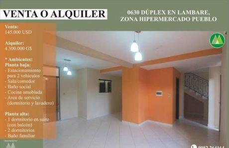 0630 DÚplex A Estrenar En Lambare, Zona Hipermercado Pueblo