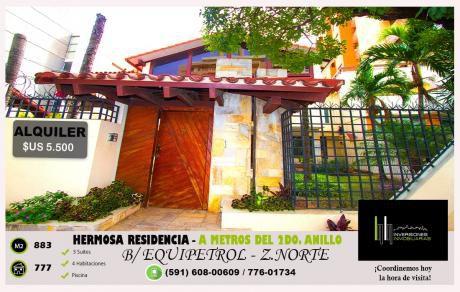 Bella Residencia A Metros Del 2do. Anillo