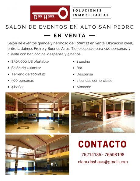 Salon De Eventos En Venta A Una Cuadra De La Buenos Aires