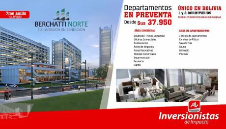Departamento En Pre-venta En Zona Norte