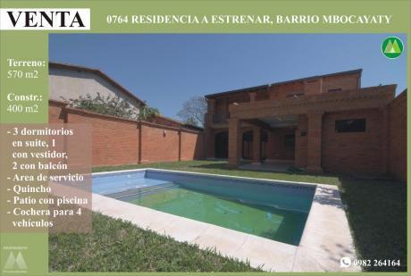0764 Residencia A Estrenar, Barrio Mbocayaty