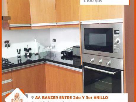 Departamento Amoblado Y Equipado En Alquiler En Condominio Zona Norte Av. Banzer