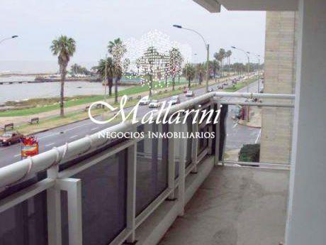Apto. 3 Dorm + Servicio Completo Punta Carretas Frente Al Mar