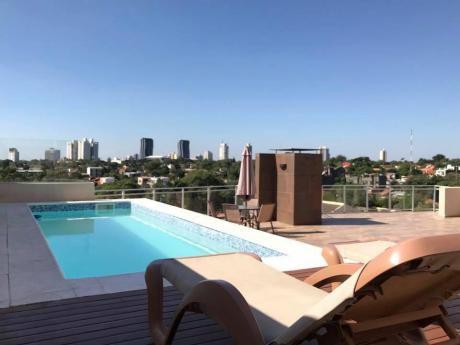 Alquilo Fino Penthouse Amoblado Y Equipado En Villa Morra