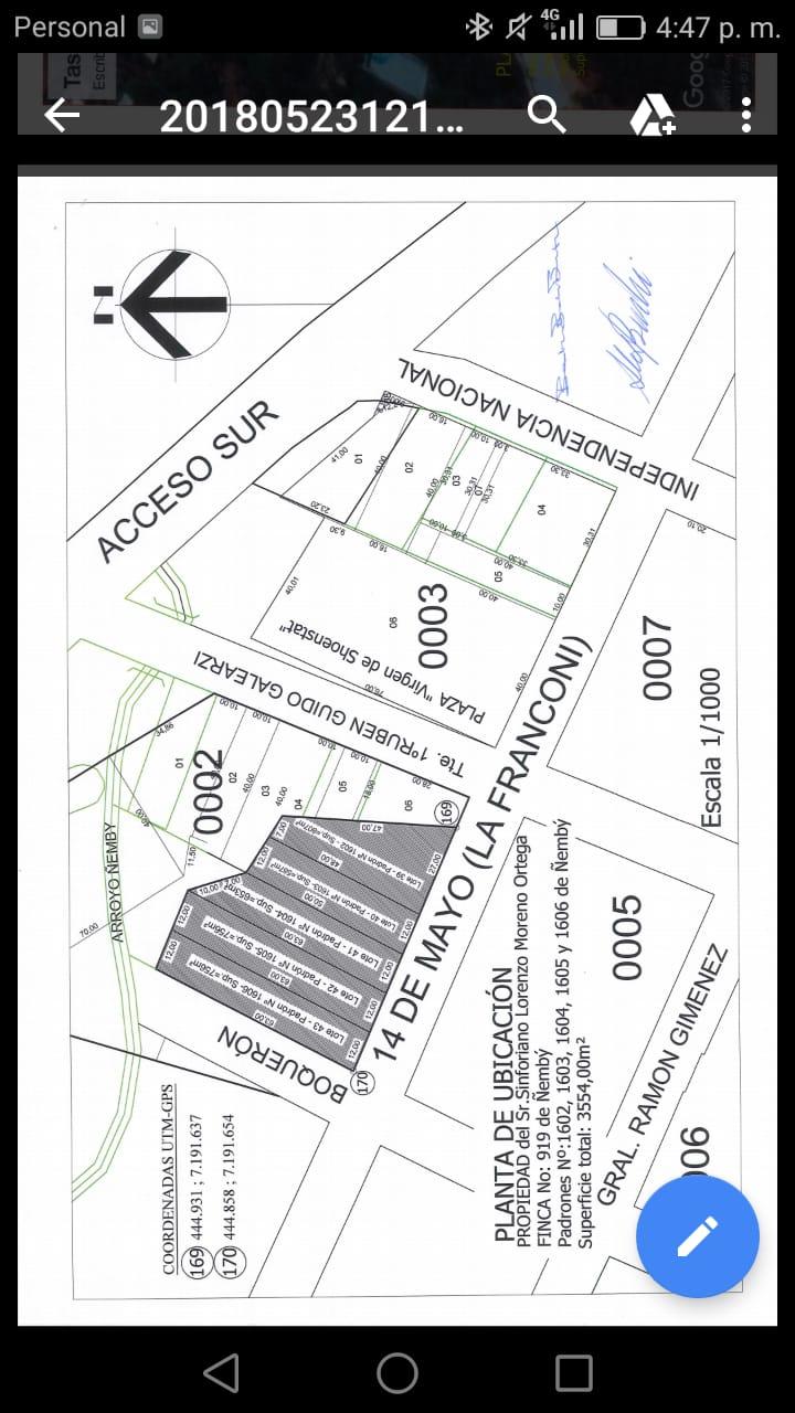 Vendo Terreno Detrás De La Municipalidad De ñemby
