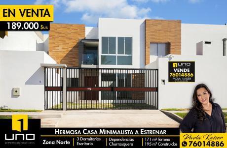 Hermosa Casa Minimalista A Estrenar