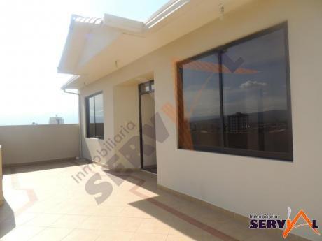 Penthouse A Estrenar En Alquiler Zona Sarco Inmediaciones Av. Juan De La Rosa