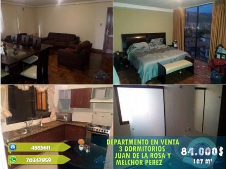 84.000 $ Dep. 3 Dormitorios Juan De La Rosa