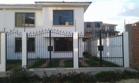 Casa En Venta, Dos Plantas A Estrenar, Zona Quintanilla