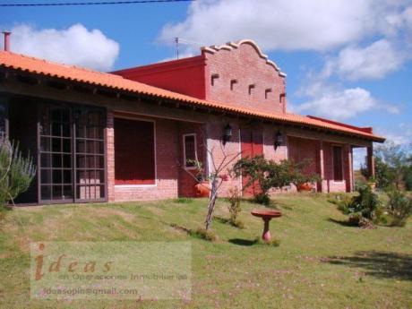Excepcional !!   Campo  Casa De Campo Canelones, Prox A Minas  30 Has Imp Casa