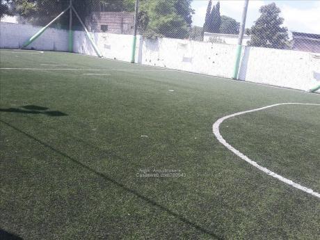 89543 - Cancha De Fútbol 5 Pronta Para Empezar A Trabajarla