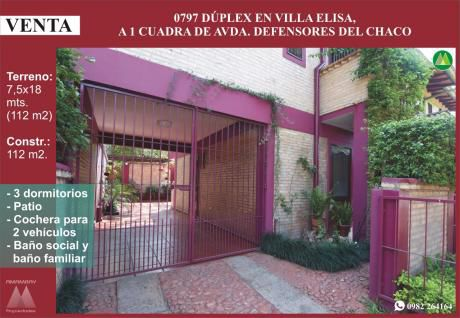 0797 Duplex En Villa Elisa, Barrio 3 De Junio