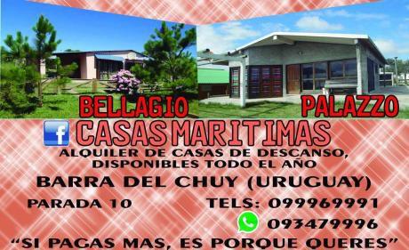 Casas Marítimas, Parada 10, Barra Del Chuy. Uruguay. Alquile