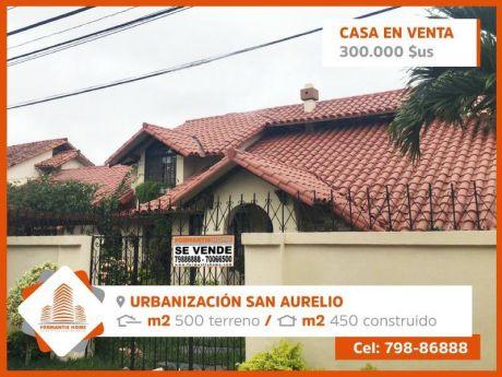 Casa En Venta UrbanizaciÓn San Aurelio.