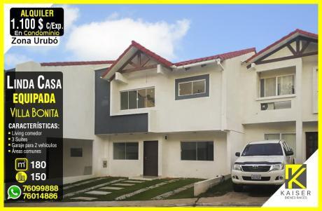 Linda Casa En Condominio Villa Bonita