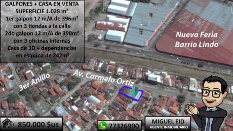 En Venta 2 Galpones + Casa Sobre Avenida