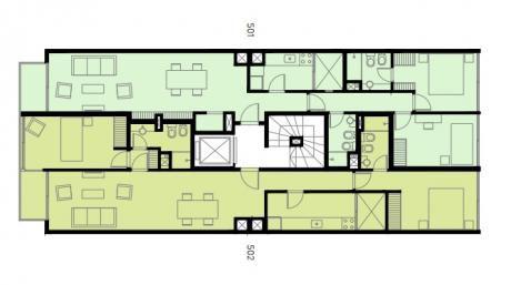 2 Dormitorios , 87 M2 Al Fte