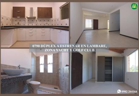 0790 DÚplex A Estrenar En Lambare, Zona Yacht Y Golf Club