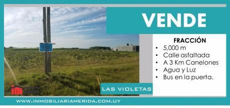 Terreno En Las Violetas Imperdible A 3km De Canelones,