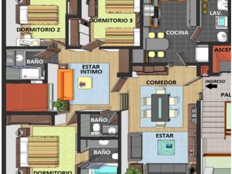 Departamentos De 3 Dormitorios