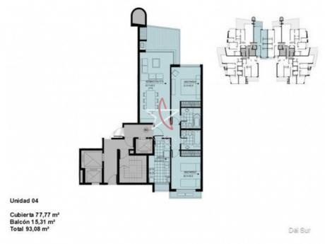 Apartamento, 2 Dormitorios, 2 Baños, Mansa, Punta Del Este, Venta