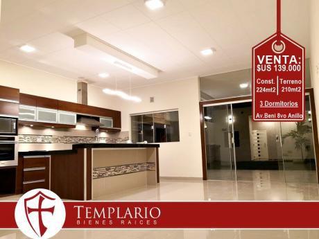 Av. Beni 8vo Anillo - Bellisima Casa - Venta: $us 139.000