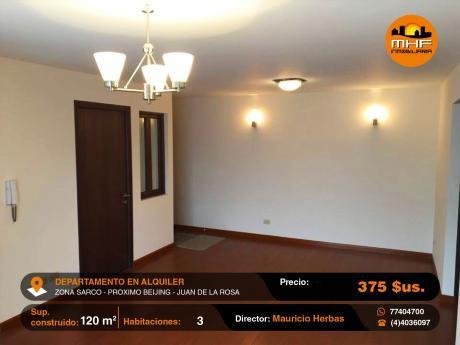 Confortable Departamento En Alquiler Incluye Garaje Y Expensas Zona Sarco