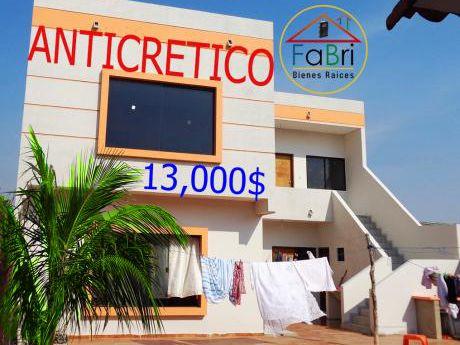 Dpto De 3 Habitaciones En Anticretico 13000 $
