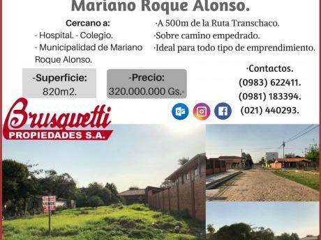 Vendo Terreno En Mariano Roque Alonso!!