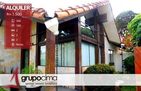 Amplia Casa En Alquiler En Equipetrol 1.500 $us !!