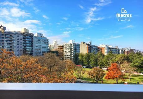 Imperdible Apartamento Con Gran Vista Al Verde Parque De Villa Biarritz.
