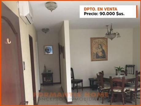 Amplio Departamento En Venta En Condominio Sobre Calle Saavedra Y Tarija.