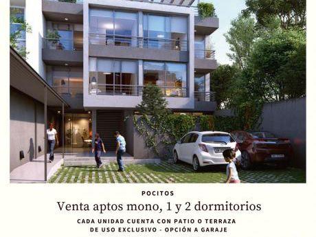 Venta – Pocitos- 1 Dorm. –patio O Terraza- Opción Cochera
