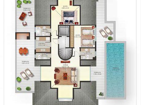 Penthouse De 2 Dormitorios En Haras Del Lago