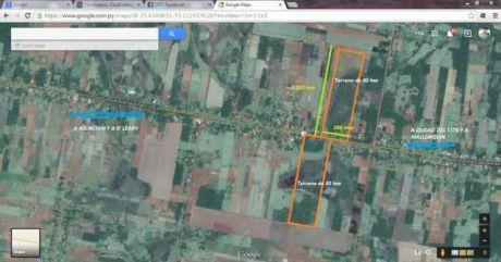 Vendo Dos  Terrenos De 30 Has S/ Ruta 7, Km 256,  Frente A Frente